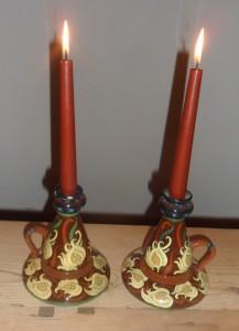 3113 Intarsio pair candlesticks√ +